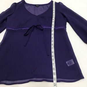 Guess Tops - Guess Womens Purple Modele Sheer Blouse Size Small